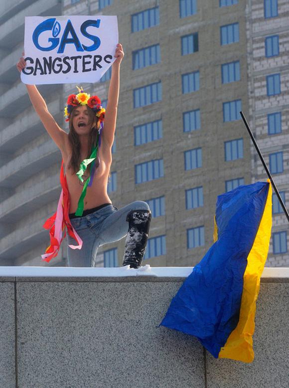 Mujeres desnudas en manifestaciones