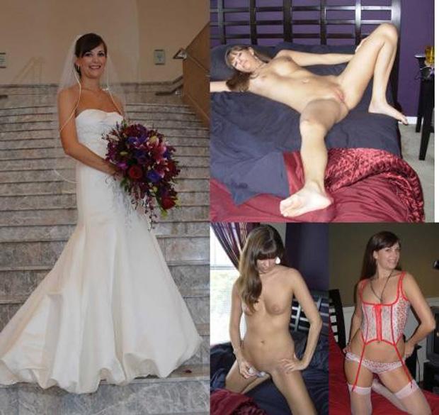 noches de boda amateur: novia vestida, novia desnuda