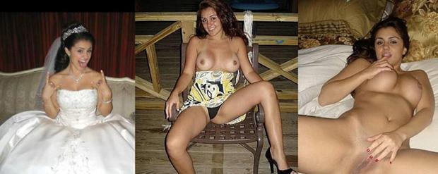 Novias desnudas y esposas