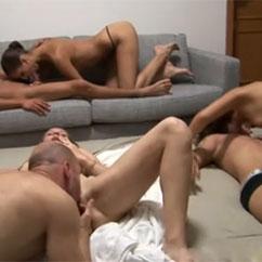 video de orgía casera